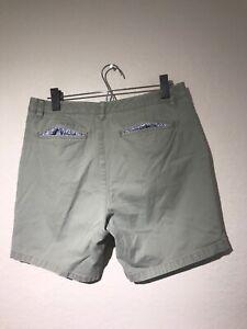 Mens-Bonobos-Maide-Washed-Chino-Short-Size-32-Green-Cotton-Contrast-Shorts