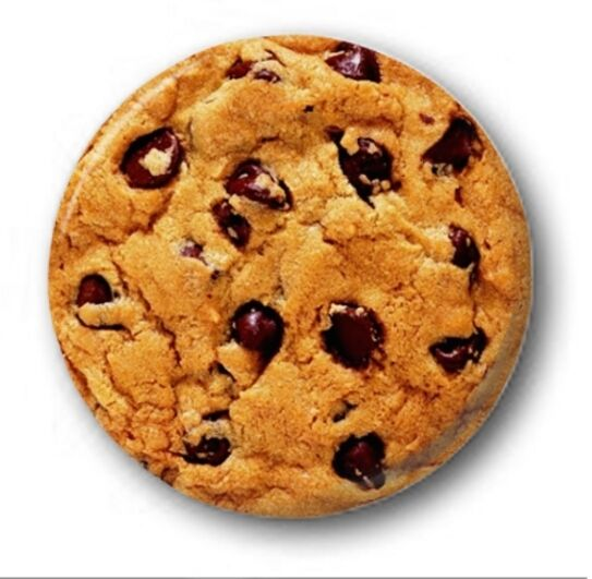 """CHOCOLATE CHIP COOKIE - 25mm 1"""" Button Badge - Novelty Cute Funny Biscuit"""