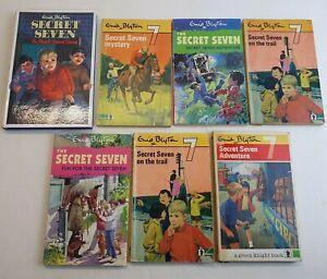 Enid-Blyton-THE-SECRET-SEVEN-Bundle-of-7-Books-Vintage-Editions