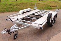 CAR TRANSPORTER/MOTORHOME/SMART/FLATBED/MOTORBIKE BESPOKE TWIN AXLE TRAILER