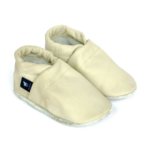 Leder Taufschuhe in Unifarben Pantau Kinder Lederpuschen Baby Krabbelschuhe