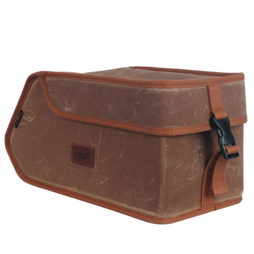 Tourbon Wax Canvas Bike Trunk Bag Insulation Cooler Pack Rear Carrier Pannier