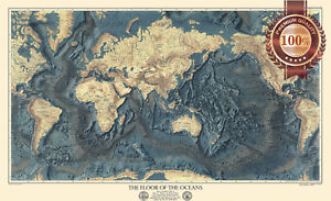 NEW-THE-FLOOR-OF-THE-OCEANS-GEOGRAPHICAL-SOCIETY-WORLD-MAP-PRINT-PREMIUM-POSTER