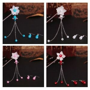 Chinese-Hair-Fork-Stick-Chopstick-Flower-Hairpin-Chignon-Pin-Earrings-Set