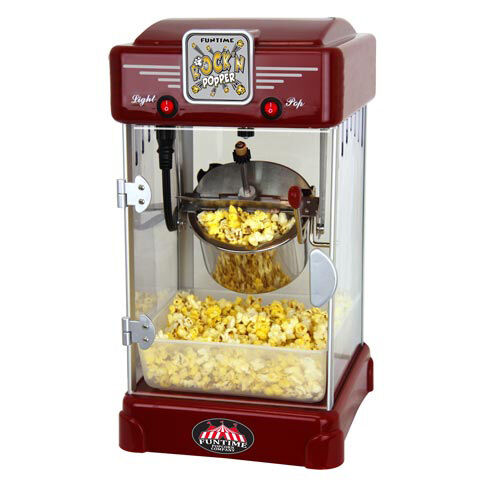 FunTime 2.5oz Rock'N Popper Popcorn Machine Maker Retro Style - FT2518