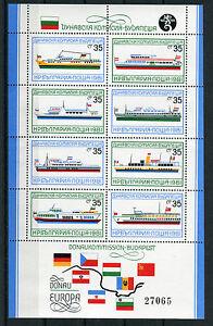 Bulgarien-Block-Nr-116-postfrisch-3039-3046-CEPT-Mitlaeufer-Michel-25-MNH