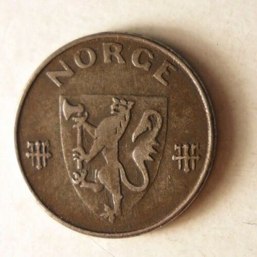 NORWAY BIN #4 1941 NORWAY ORE WW2 Excellent Nazi Occupation Coin
