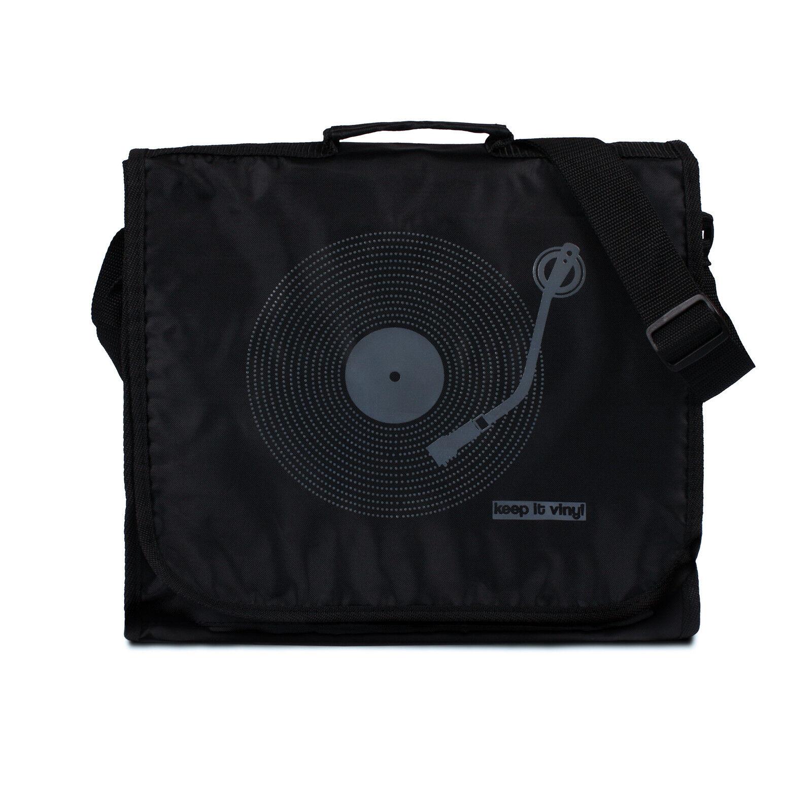 Keep It Vinyl: Record Bag - Retro Vintage Records LP DJ Messenger Schulter Herren