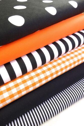 Geometric Fabric bundles Fat Quarters Polycotton Material Stripes Spots Craft