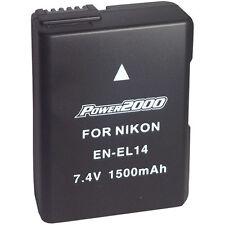 Power2000 EN-EL14A Rechargeable Battery for Nikon Coolpix P7000 P7100 P7800