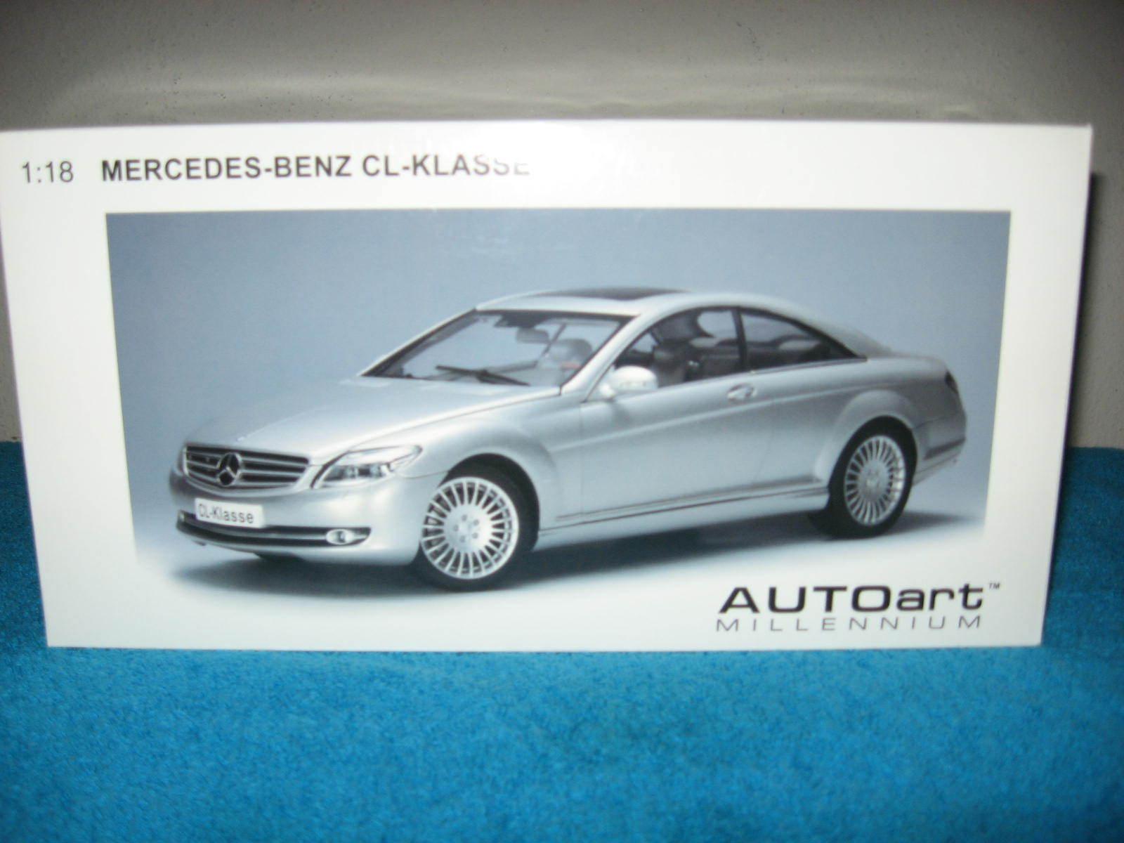 Mercedes-Benz CL-KLASSE 1 18 Autoart Diecast voiture ouverture portes Capuche & Coffre