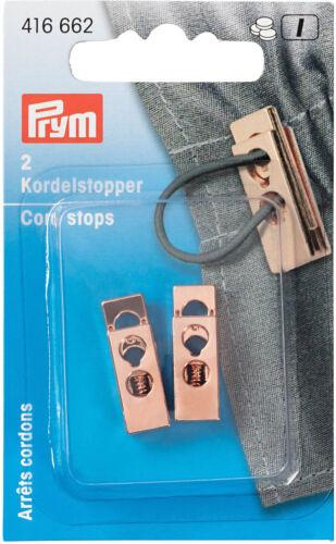 anoraks 416662 oro rosa para hacer copia de seguridad de chaquetas 2 agujeros Prym cordel stopper