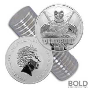 Marvel Comic 1 oz Silver Coin Set Avengers Spider-Man Thor Deadpool Capt America