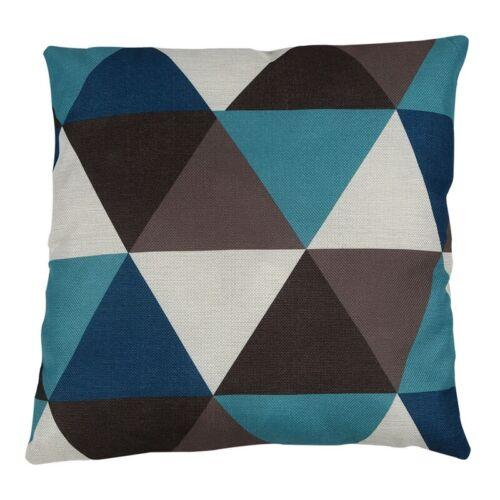 Dreieck Geometrischer Kissenbezug Blau F4F4