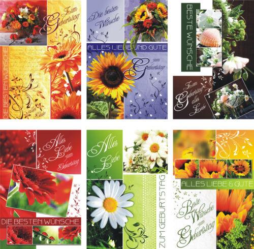 51-3510 Geburtstagskarten Geburtstagskarte Glückwunschkarten Grußkarten