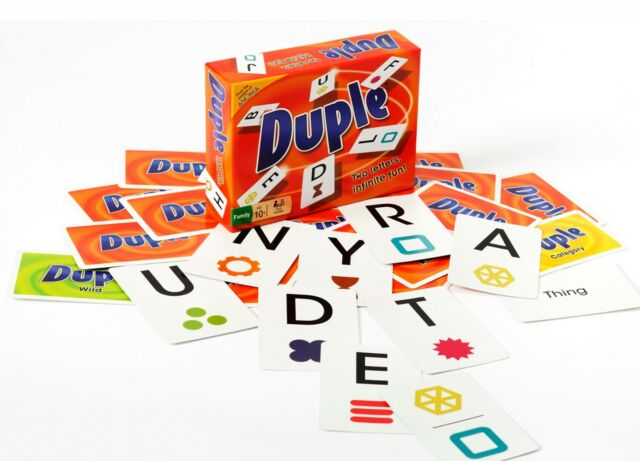 Duple Family Card Game Two Letters Infinite Fun From Anomia Press