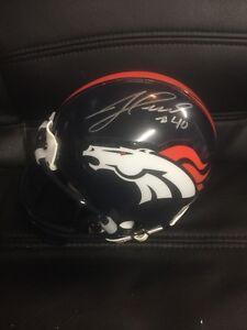 Jacob Hester Autographed Denver Broncos Mini Helmet Jsa