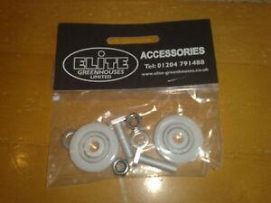 FIRST CLASS POST 100/% Rated Elite Greenhouse door wheels 28mm