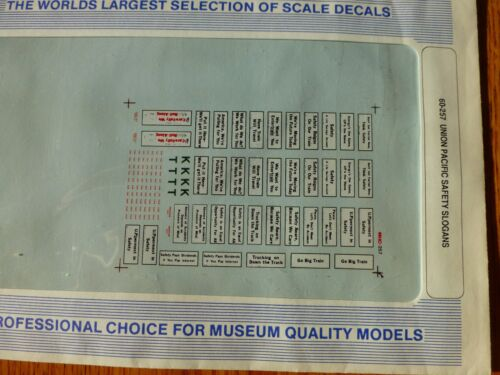 use w// 60-97 Safety Slogans Microscale Decal N  #60-257 UP Cabooses