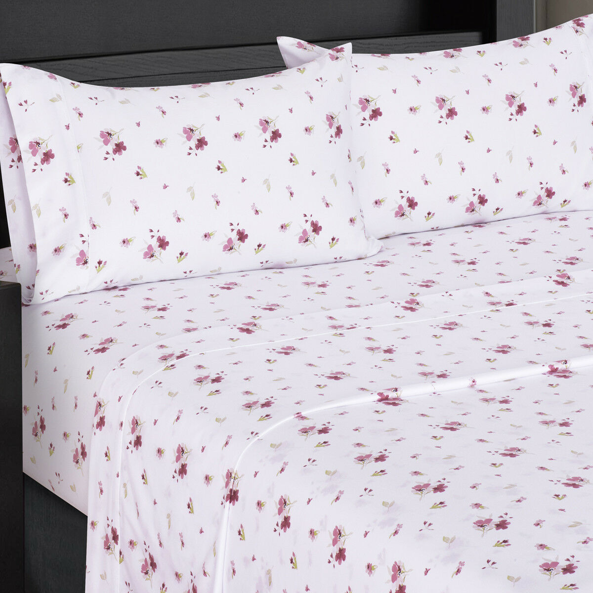 Luxury Freshly Floral Zahra 300 Thread Count 100% Cotton 4 Pieces Sheet Sets