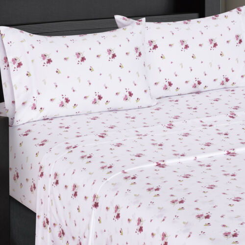Luxury Freshly Floral Zahra 300 Thread Count 100/% Cotton 4 Pieces Sheet Sets