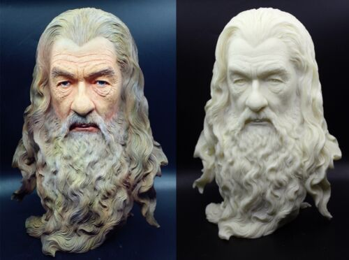 "Lord of the Rings Hobbit The Gandalf Paint Color Resin Bust Statue 12""H"