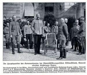 1916-Hauptquartier-der-k-u-k-Armee-an-der-Suedwestfront-Generaele-WW1