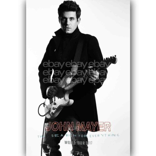 New John Mayer World Tour 2017 Custom Silk Poster Wall Decor 20x13 Inch
