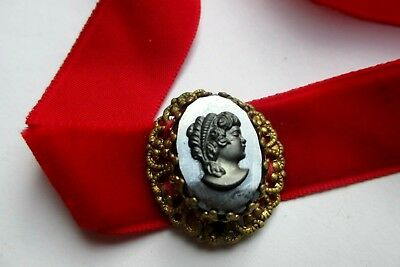 Costante Rare Collier Ras De Cou Camée Agate Couleur Or Femme Empire Bijou Vintage 761 Eppure Non Volgare