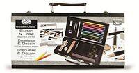 Sketching Draw Pencil Color Set Kit Art Supplies Beginner Artist Storage Box