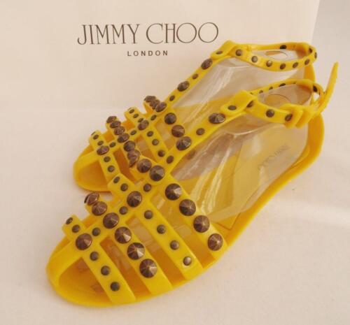 gladiatore Scarpe Uk6 Choo Nuovo 39 giallo Us9 Jimmy Sandali scarpe TafqSZ