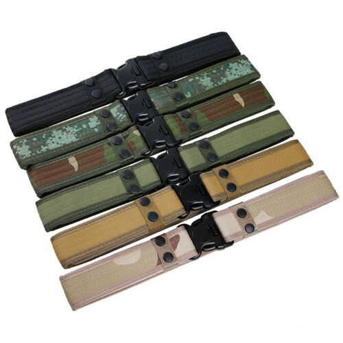 Durable Canvas Hunting Tactical Camping Sport Hiking Unisex Waist Belt Molle