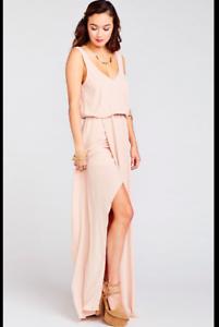 Detalles Acerca De Muéstrame Tu Mumu Kendall Maxi Vestido Vestido Rosa Viejo Crujiente Talla Mediana M Mostrar Título Original