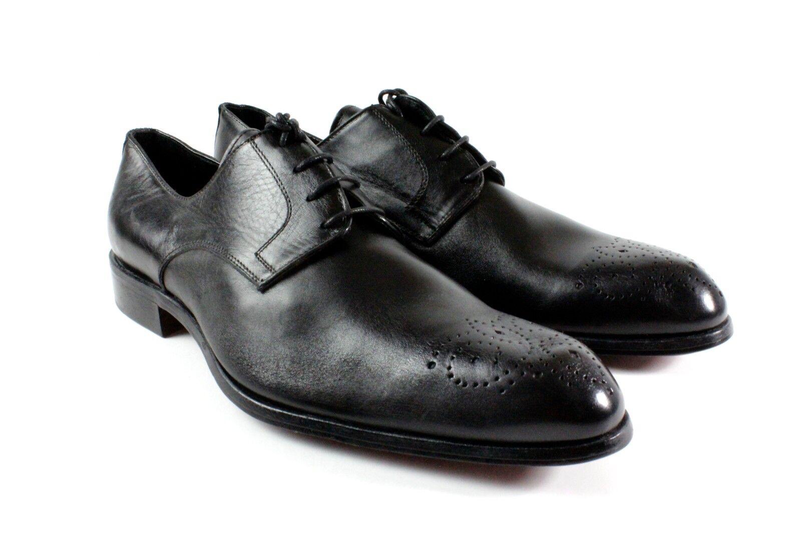 Noir Fait à la Main Cuir Italien chaussures Habillées Oxford chaussures Habillé