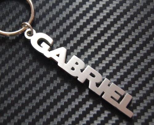 GABRIEL Personalised Name Keyring Keychain Key Bespoke Stainless Steel Gift