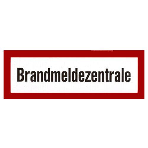 """Sécurité incendie caractères Brand Bouclier /""""Incendie de déclaration CENTRAL/"""" en plastique 297x105 mm"""