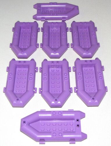 LEGO LOT OF 8 NEW MEDIUM LAVENDER RAFTS OARLOCKS BOATS