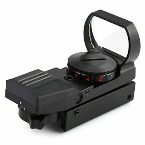 Red-Dot-Sight-Reflex-Green-Holografico-Scope-Tactical-Rifle-Mount-20mm-Rails-BLK