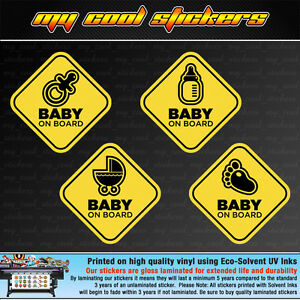 Baby-On-Board-Vinyl-Sticker-Decal-for-car-ute-4x4-4-versions-to-choose-from