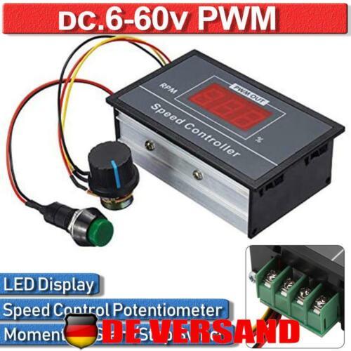 DC12//24//36//48V 30A PWM Motordrehzahlregler Drehzahlregler Reversible Schalter DE