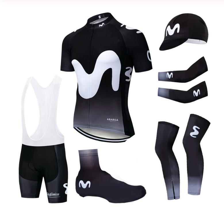 Kit Ciclismo estivo Team UCI MOVISTAR di qualità set divisa cycling jersey set g