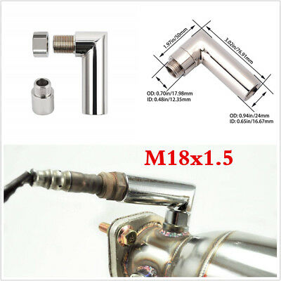 90 Degree Lambda Boss Oxygen Sensor Exhaust De cat Pipe O2 Lamba Nut M18 x 1.5mm
