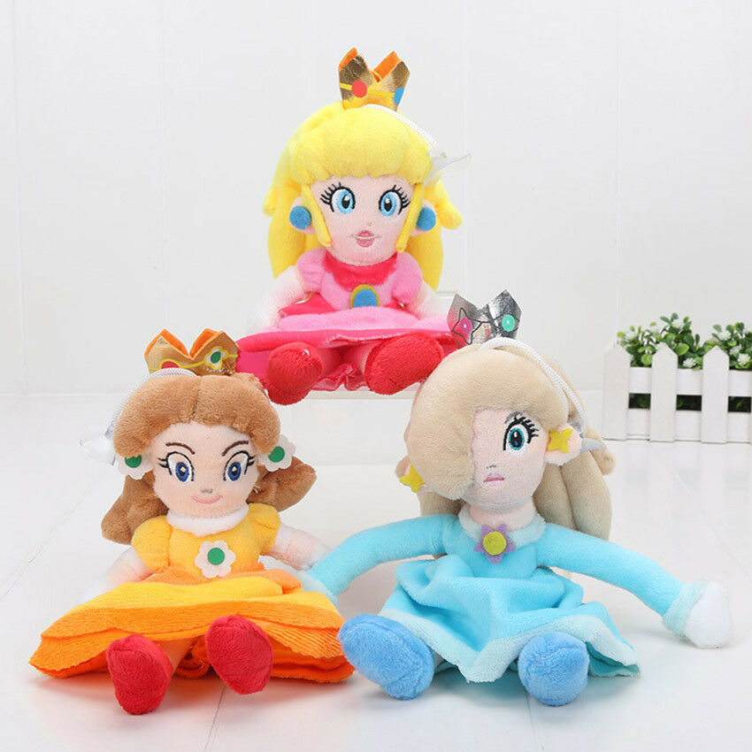Super Mario Bros Plush Plush Plush Princess Peach Daisy Rosalina 20cm Soft Doll Toy Cute 3pc df20d2