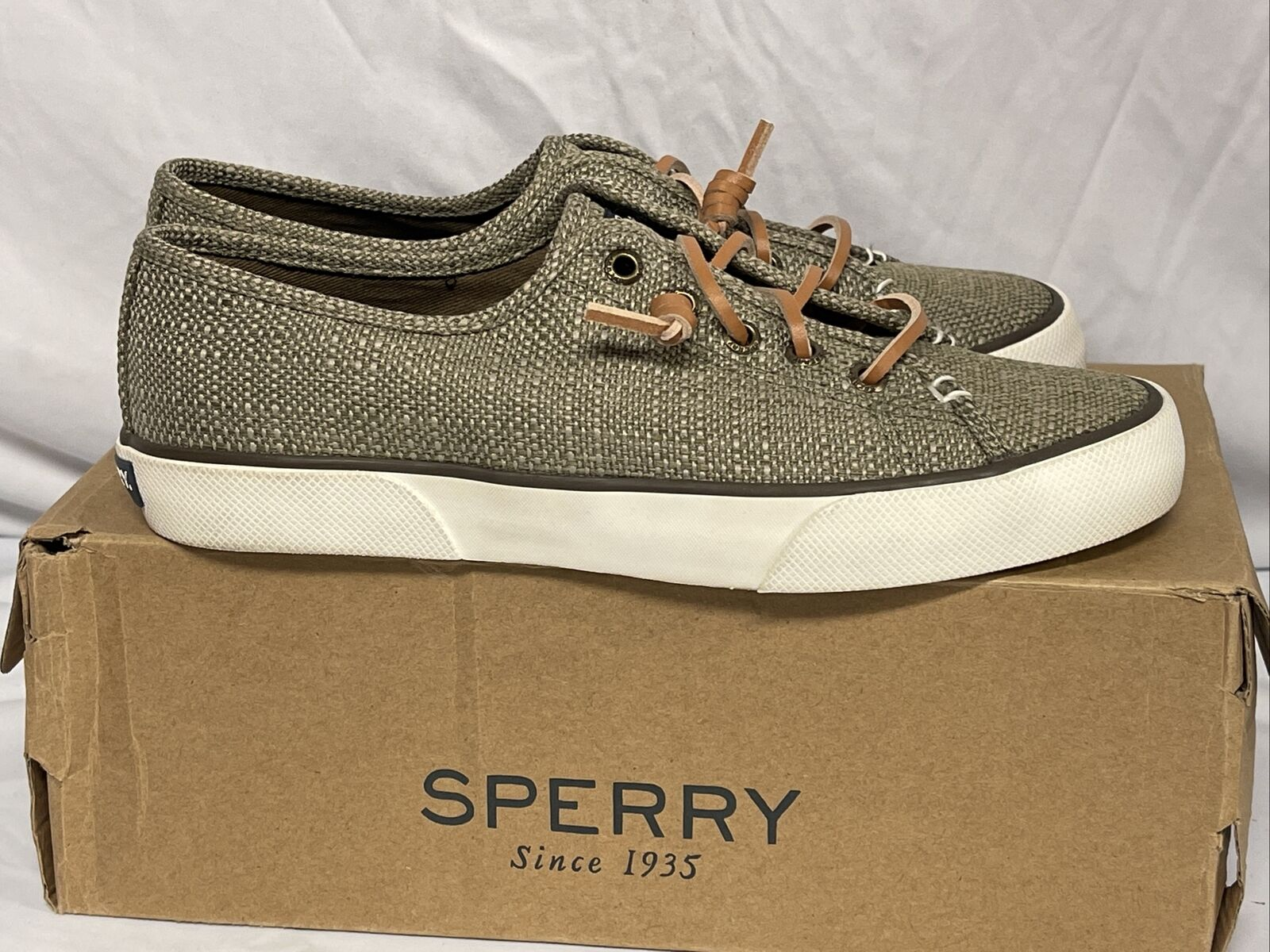 Sperry Top-Sider Women's Pier View Taupe Boat Shoes STS80167 NEW Size 6.5