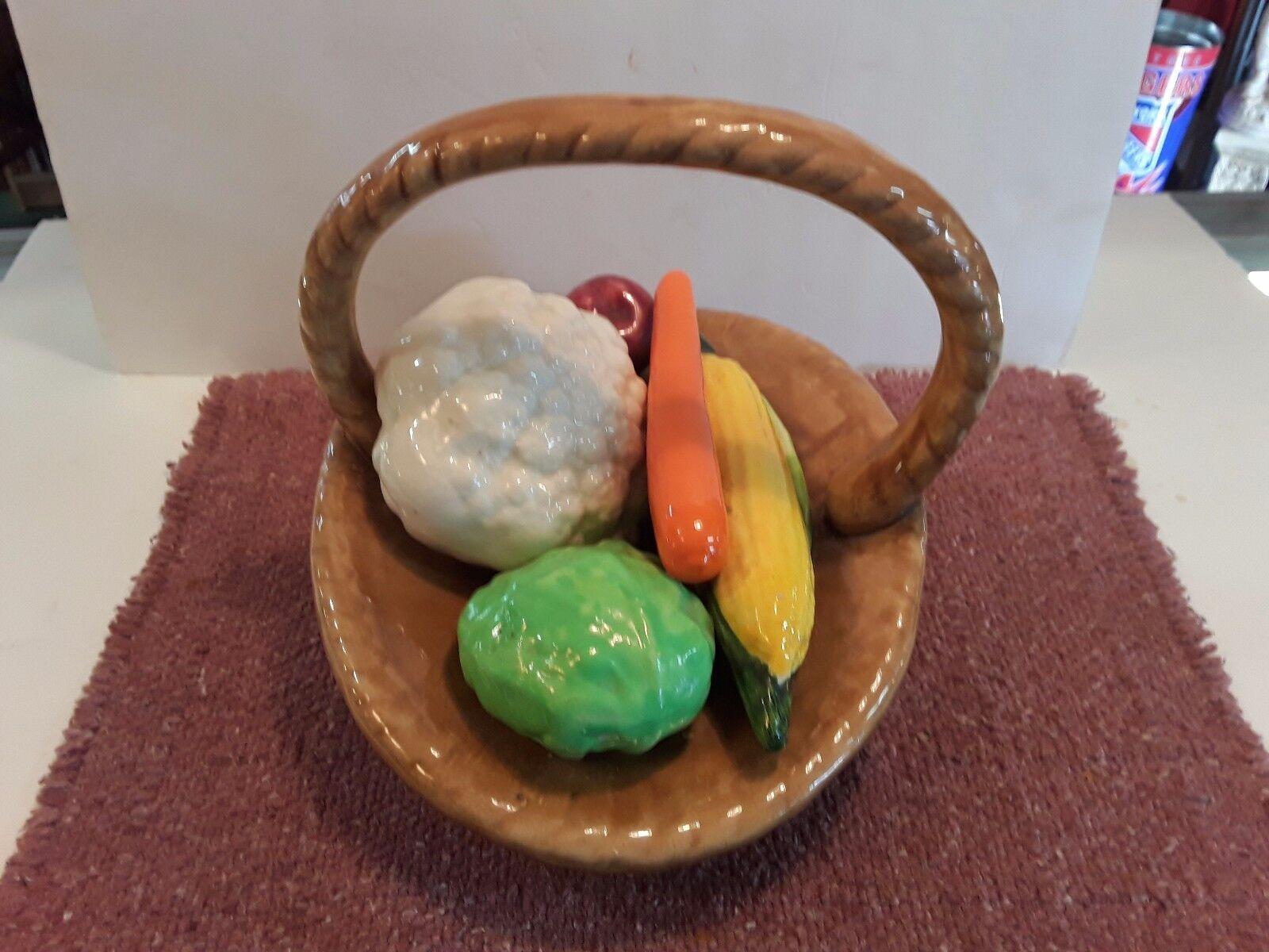Vintage Large Ceramic Vegetable Basket