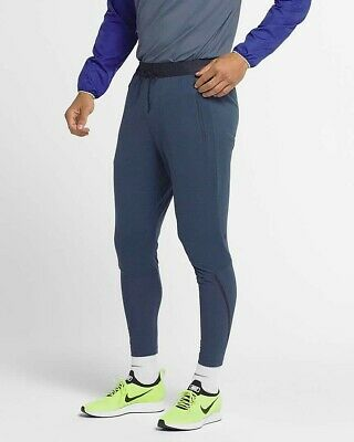NIKE THERMA SPHERE TECH PACK MENS RUNNING PANTS TROUSERS BLUE SIZE LARGE 888407352270 | eBay