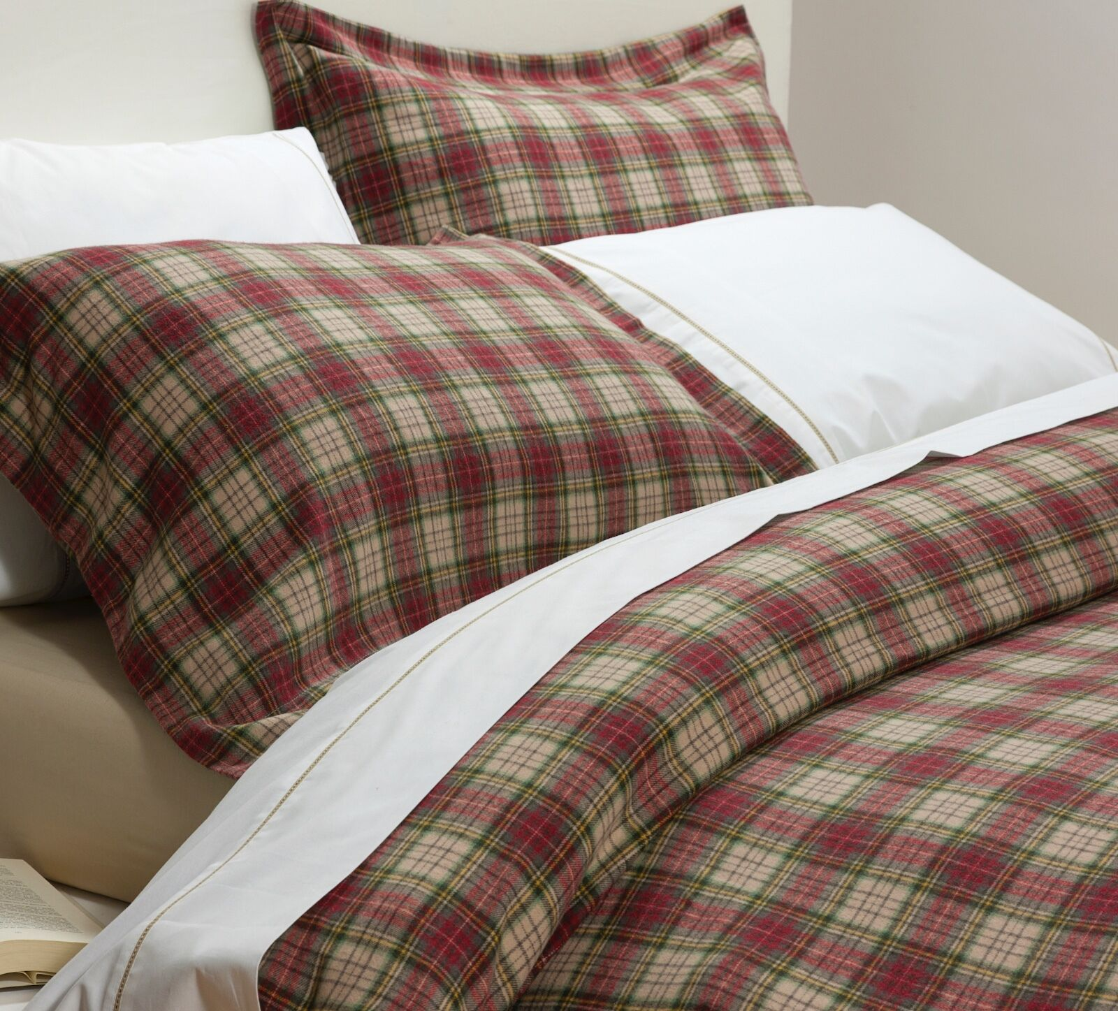 rot Tartan Woven Brushed Cotton (Flanellette) 100% Cotton Duvet Cover