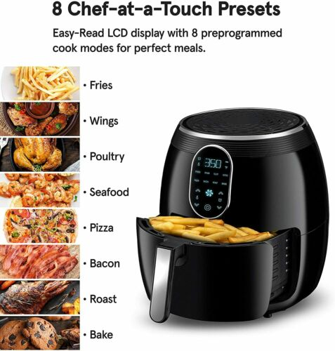 Gourmia GAF718 Digital Free Fry Air Fryer Touch LCD!!! No Oil Healthy Cooking