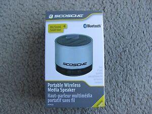 New Scosche boomSTREAM mini Portable Bluetooth Wireless Media Speaker BTSPK1SR