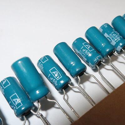 1uf 50 V condensateur électrolytique 10 Pcs 1µf